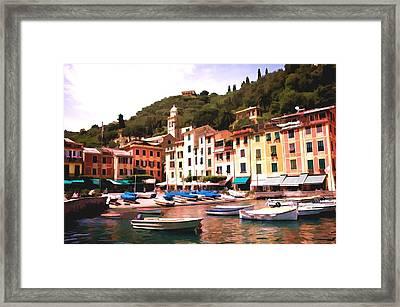 Portofino Harbor 2 Framed Print by Allen Beatty