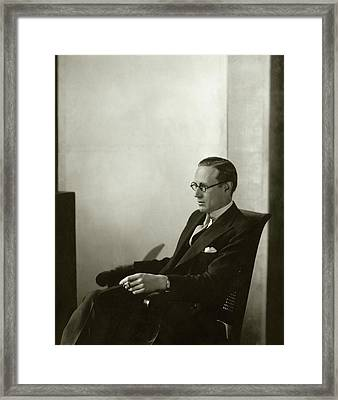 Portrait Of Leslie Howard Framed Print by Edward Steichen