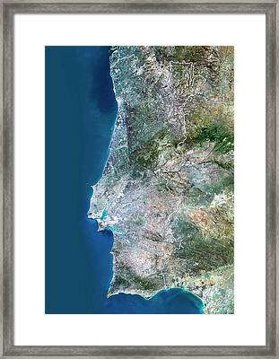 Portugal Framed Print by Planetobserver/science Photo Library