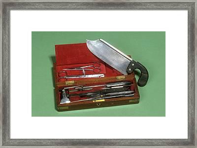Post-mortem Instruments Framed Print