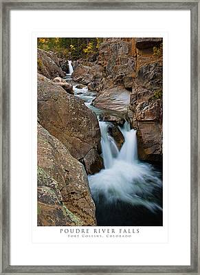 Poudre River Falls Fort Collins Framed Print by Posters of Colorado