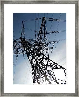 Power Lines Framed Print by Detlev Van Ravenswaay