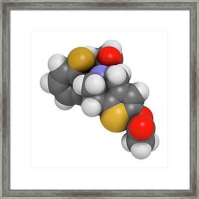 Prasugrel Platelet Inhibitor Drug Framed Print by Molekuul