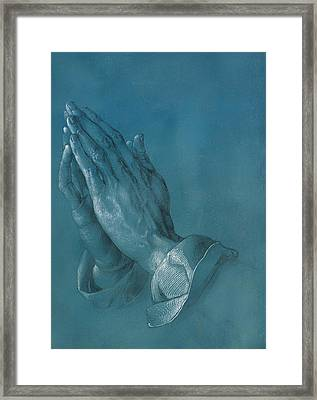 Praying Hands Framed Print by Mountain Dreams