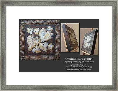 Precious Hearts 301110 Framed Print by Selena Boron