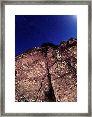 Prehistoric Rock Art Framed Print