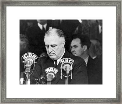 President Franklin Roosevelt Framed Print