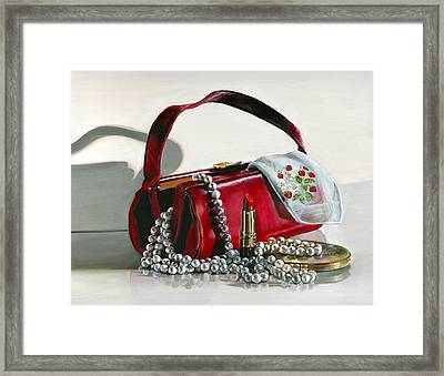 Framed Print featuring the painting Pretty Woman by Gail Chandler