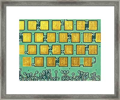 Printed Circuit Framed Print by Alfred Pasieka
