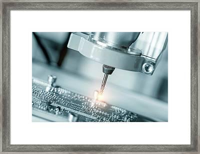 Printed Circuit Board Processing Framed Print