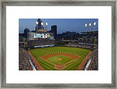 Progressive Field Framed Print