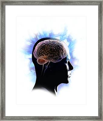 Psychic Brain, Conceptual Image Framed Print