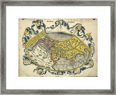Ptolemic World Map Framed Print