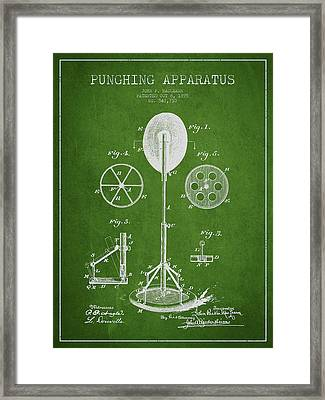 Punching Apparatus Patent Drawing From1895 Framed Print