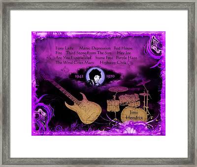 Purple Haze Framed Print by Michael Damiani