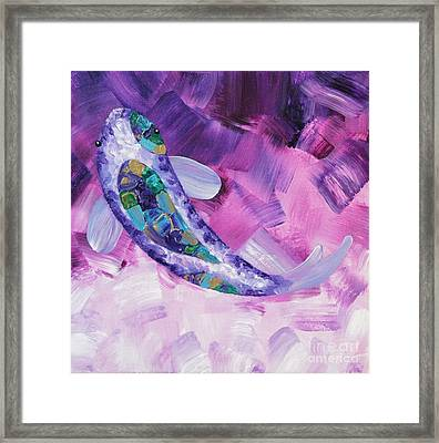 Purple Koi Framed Print
