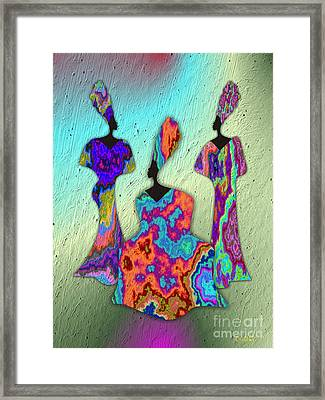 3 Queens 2 Framed Print by Walter Oliver Neal