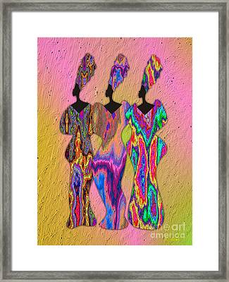 3 Queens 3 Framed Print by Walter Oliver Neal