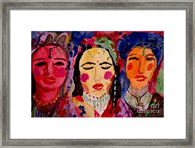 3 Queens Of Color Framed Print by Amy Sorrell
