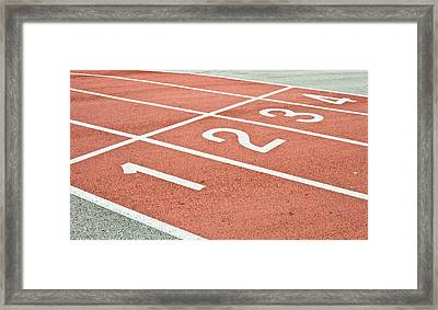 Racing Track Framed Print by Tom Gowanlock
