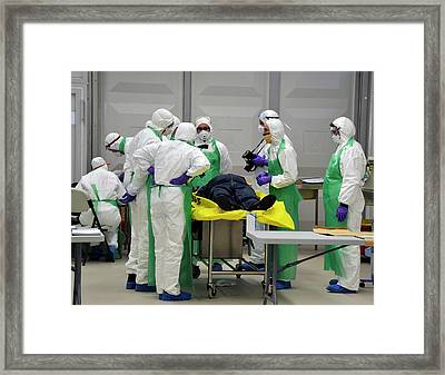 Radiation Emergency Response Training Framed Print by Public Health England