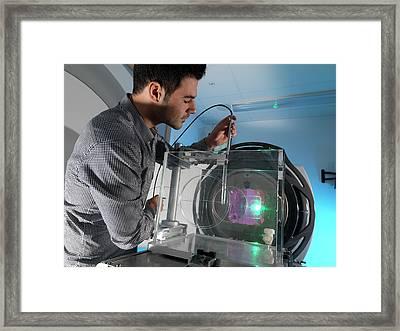 Radiotherapy Calibration Framed Print
