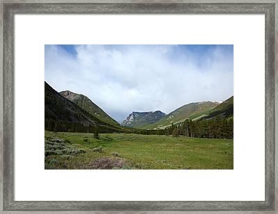 Rainbow At Beartooth Pass Framed Print