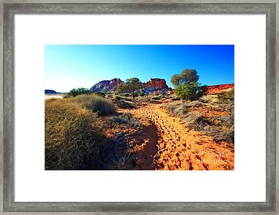 Rainbow Valley Sunrise Framed Print by Bill  Robinson
