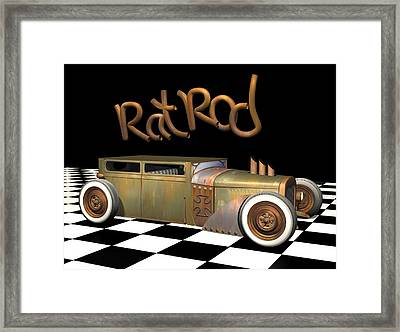 Rat Rod Sedan Framed Print by Stuart Swartz