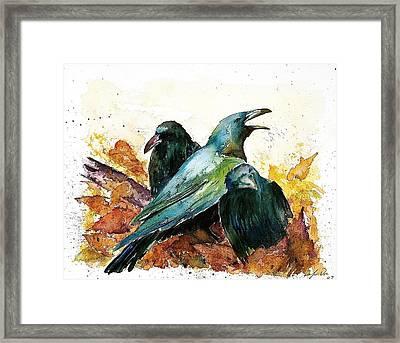 3 Ravens Framed Print