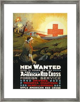 Red Cross Poster, 1918 Framed Print