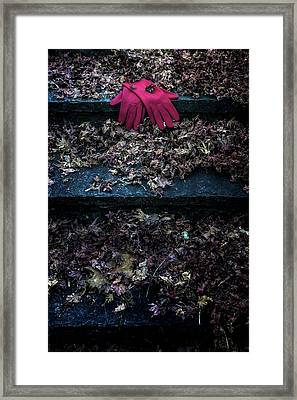 Red Gloves Framed Print by Joana Kruse
