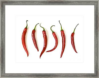 Red Hot Chili Peppers Framed Print by Elena Elisseeva