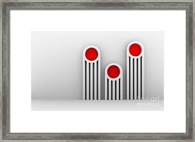 3 Red Illuminators Framed Print by Igor Kislev