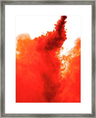 Red Liquid Framed Print by Science Photo Library
