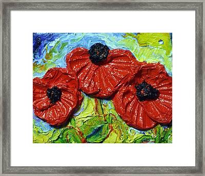 Red Poppies Framed Print by Paris Wyatt Llanso