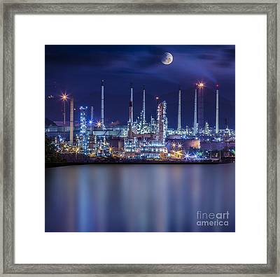 Refinery Industrial Plant  Framed Print