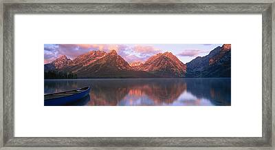 Reflection Of Mountains In A Lake Framed Print