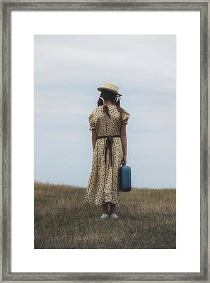 Refugee Girl Framed Print by Joana Kruse