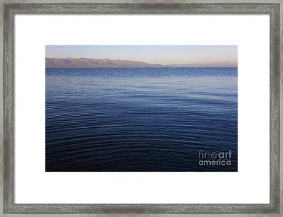Ripples On The Surface Of Lake Song Kul In Kyrgyzstan Framed Print by Robert Preston