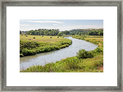 River In The Nebraska Sandhills Framed Print