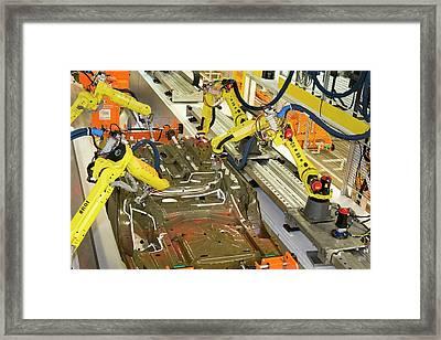 Robotic Car Production Line Framed Print
