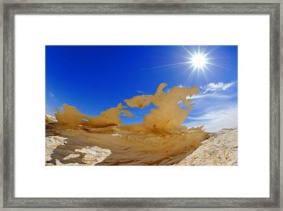 Rock Formations, Egypt's White Desert Framed Print