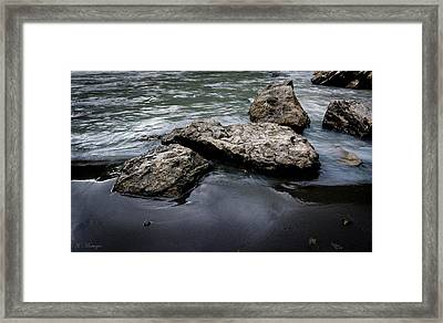 Rocks In The River Framed Print