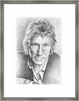 Roger Waters Of Pink Floyd Framed Print by Liz Molnar