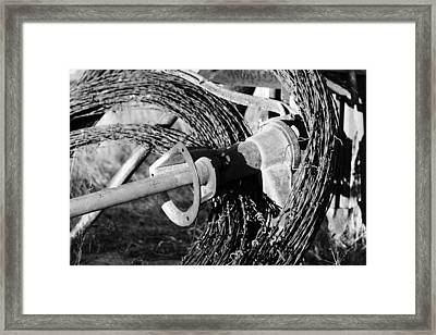 3 Rolls Of Barbed Wire-001 Framed Print
