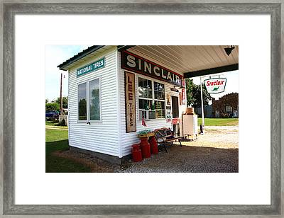 Route 66 Filling Station Framed Print