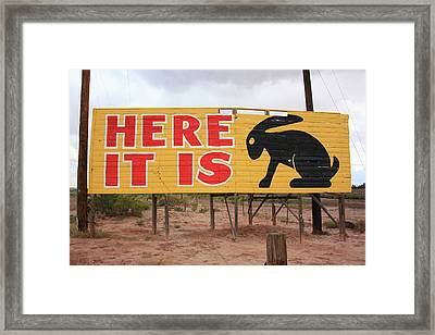Route 66 - Jack Rabbit Trading Post Framed Print