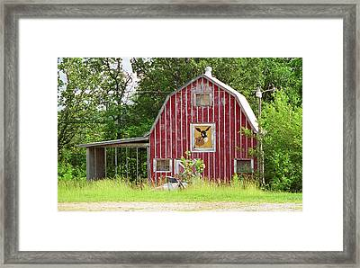 Route 66 - Mule Trading Post Framed Print by Frank Romeo