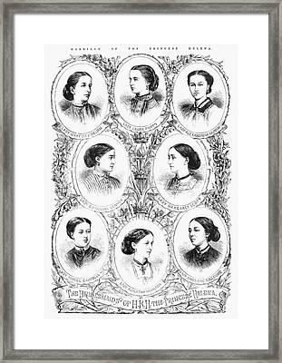 Royal Wedding, 1866 Framed Print